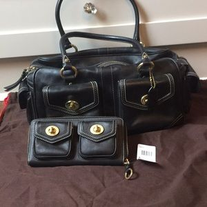 Coach Satchel Handbag and matching Wallet
